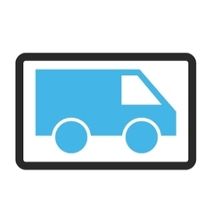 Van Framed Icon vector