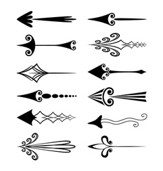 Vintage arrows vector image