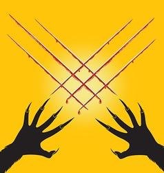 wolf halloween cut vector image