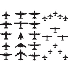 Airplains top view vector image