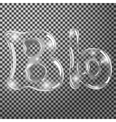 Bubbles letters B vector image vector image