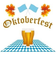 Card oktoberfest festival vector