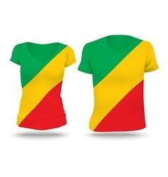 Flag shirt design of Republic of Congo vector image