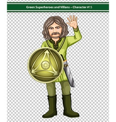 Green knight vector image