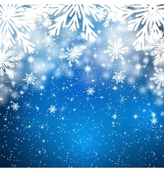 Snowflakes background with falling snow vector image