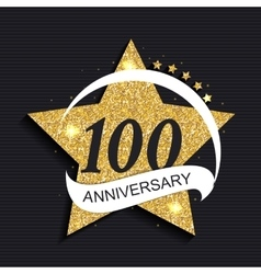 Template Logo 100 Anniversary vector image