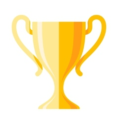 winner cup flat icon vector image vector image