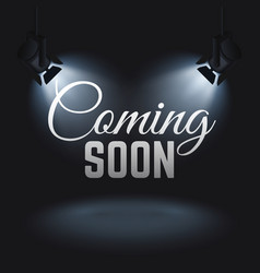 coming soon mystery retail concept with vector image vector image