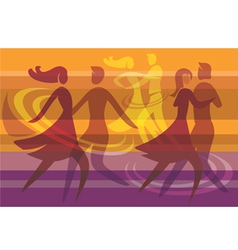 Dancing colorful background vector image