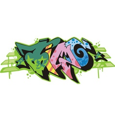 Graffito - time vector image