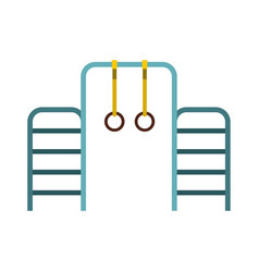 gymnastics rings and ladder icon flat style vector image