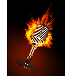 Microphone in Fire vector image