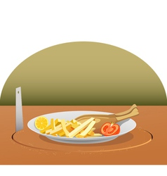 stealing lunch vector image vector image
