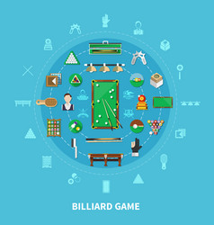 billiards round composition vector image