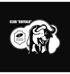 Buffalo Logo emblem vector image vector image