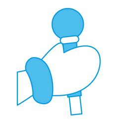 hand cartoon holding glove vector image vector image