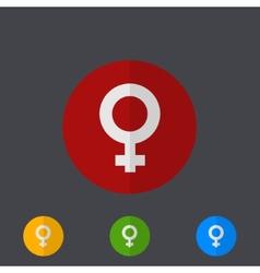 modern circle icons set on gray vector image vector image
