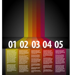 One two three four five - progress background vector image vector image