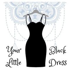 The little black dress hanging on a hanger vector image