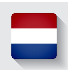 Web button with flag of Netherlands vector image vector image