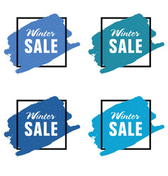 winter sale icon in blue color set vector image vector image