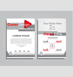 Design brochure layout with place for your data vector