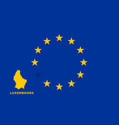 eu flag with luxembourg country european union vector image