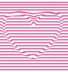 heart line stencil dent the imageDesign vector image vector image