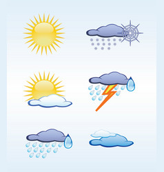 icons for weather vector image vector image