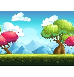 Seamless background colorful trees vector image vector image