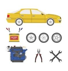Set of car parts vector image
