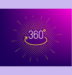 360 degree line icon full rotation sign vr vector