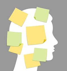 abstract notes and idea making vector image
