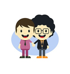 Adorable gay cartoon character vector