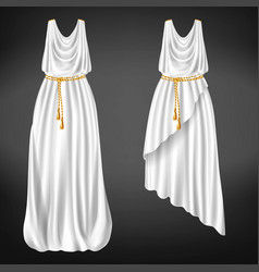 Ancient greek womans chitons realistic vector