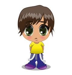 anime boy vector image vector image