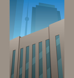 art deco building vector image