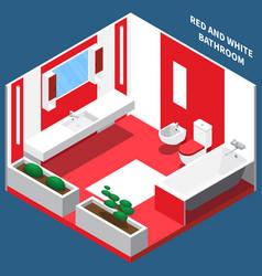 bath room interior isometric composition vector image