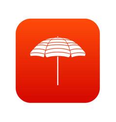beach umbrella icon digital red vector image