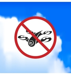 Beautiful sign forbidding flight drone vector