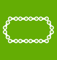 Bicycle chain icon green vector