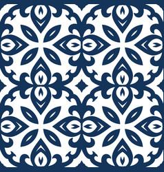 Blue arabesque pattern vector