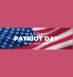 blurry american flag concept horizontal banner vector image