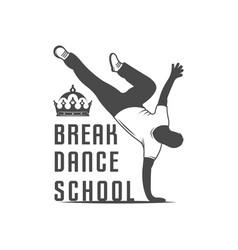 Break dance school logotype vector