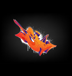 Bright abstract graffiti on a black background vector