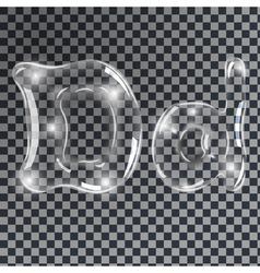 Bubbles letters D vector image