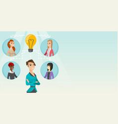 Businesswomen discussing business ideas vector