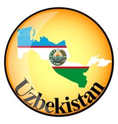 Button Uzbekistan vector