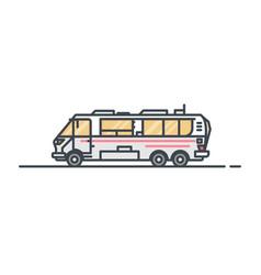 camper caravan vector image