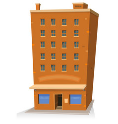 cartoon shop building vector image